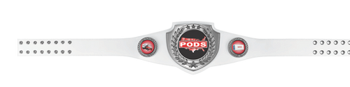 White and Gold Victory Belt