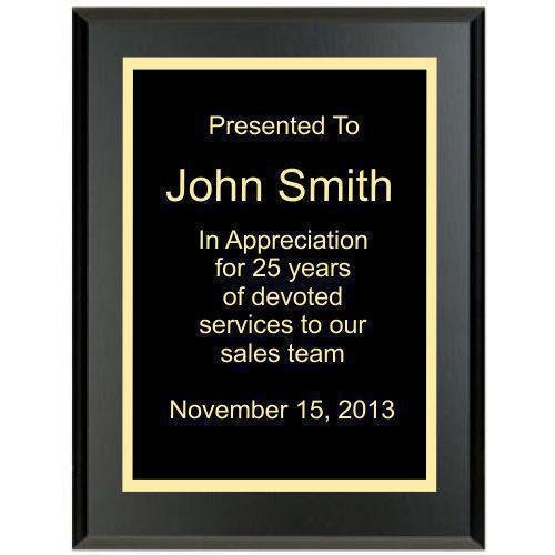Solid Black Plaque