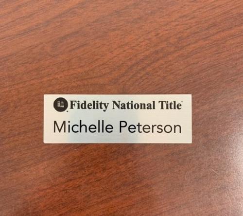 """3""""X1"""" Metal Name Badge"""