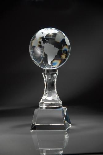 Crystal Globe on Sculpted Base