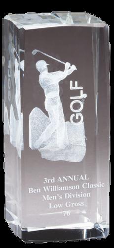 3D Crystal Golfer