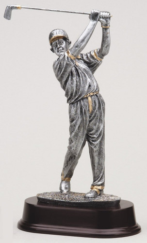 Male Resin Golfer Statue