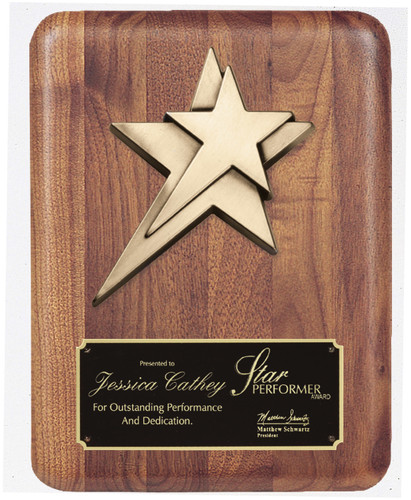 Star Casting Walnut Plaque