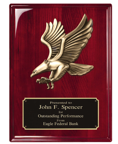 Eagle Piano Finish Plaque