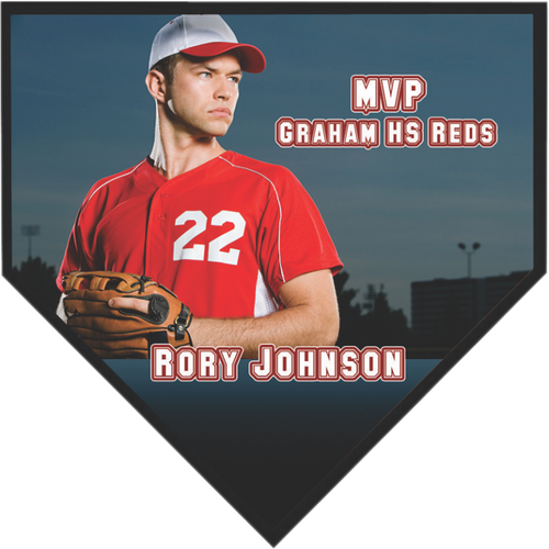 Sublimated Home Plate Plaque