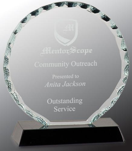 Round Facet Glass Award