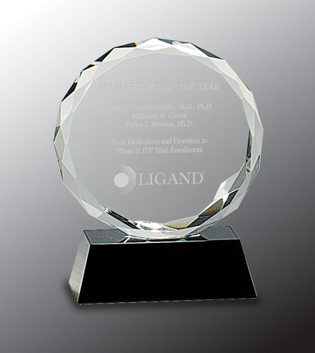 Round Facet Crystal Award