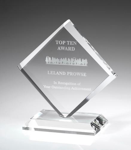 Crystal Diamond Shaped Award