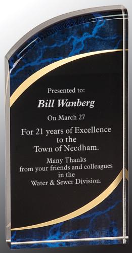 Marble Rounded Acrylic Award