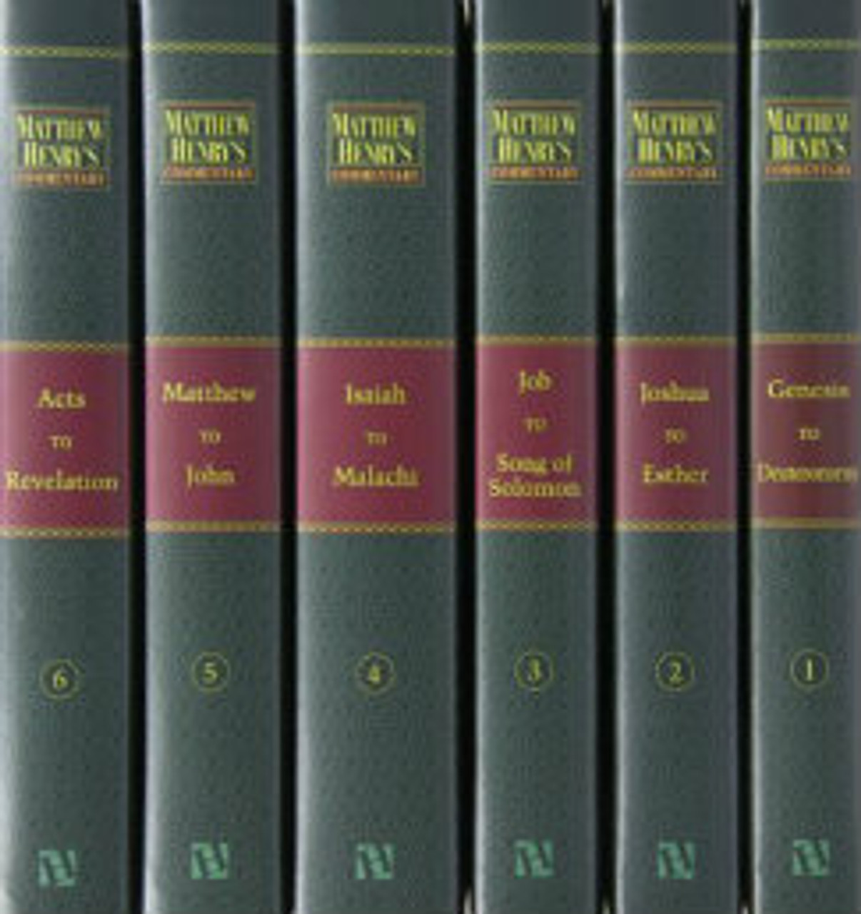 Matthew Henry's Commentary on the Whole Bible Unabridged, 6 Volumes (Hardcover Books)
