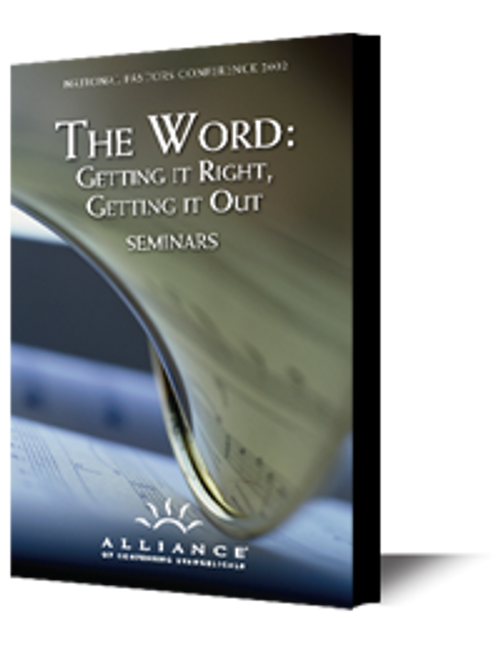 The Word: Getting it Right, Getting it Out (mp3 Disc)
