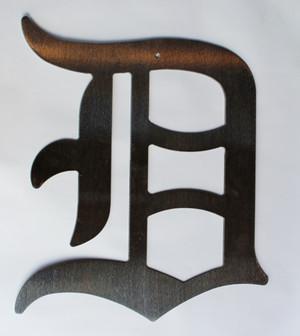 Large Old English D Metal Cutout Sign