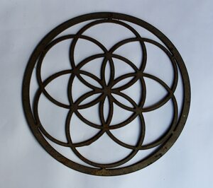 Decorative Circle Metal Cutout Sign