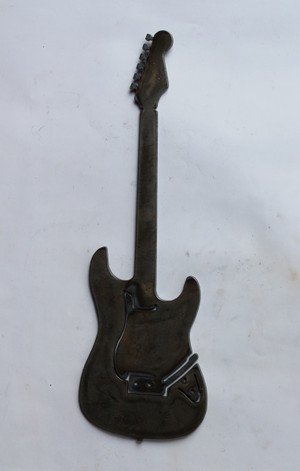Electric Guitar Metal Cutout Sign