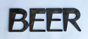 Beer Metal Cutout Sign
