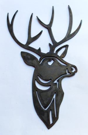 Deer Metal Cutout Sign