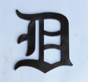 Medium Old English D Metal Cutout sign
