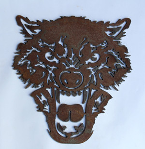 Wolf Metal Cutout sign