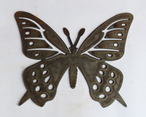 Butterfly Metal Cutout Sign