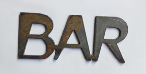 Bar Metal Cutout Sign