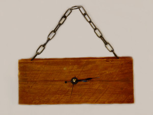 Barn wood clock with chain