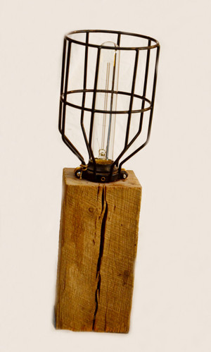 Barn Wood Cage Light
