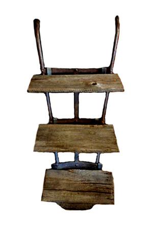 Vintage Handcart Shelves with Barn Wood