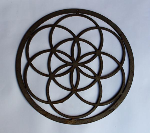 Decorative Circle Metal Cutout Sign