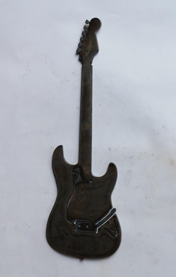 Electric Guitar Metal Cutout Sign