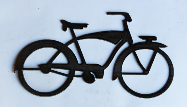 Bicycle Metal Cutout Sign