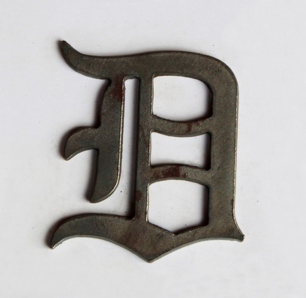 Small Old English D Metal Cutout Sign