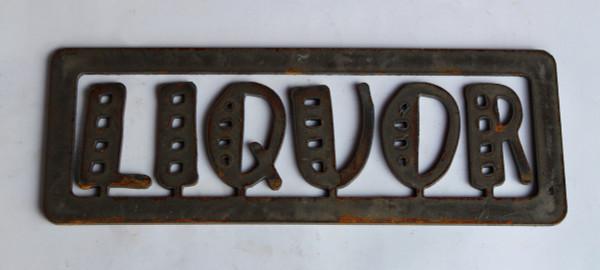 Liquor Metal Cutout Sign