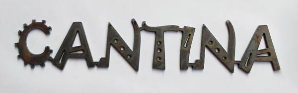 Cantina Metal Cutout Sign