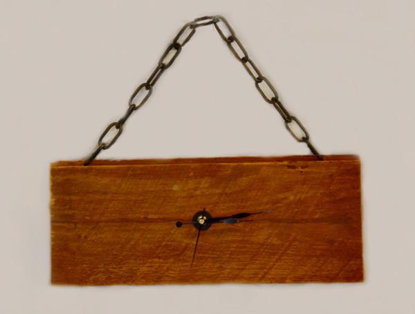 Barn wood clock with chain