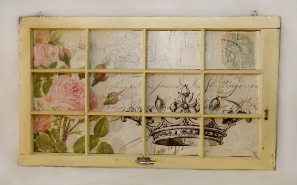 Window Wall Decor with French paper