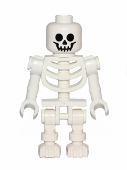 gen047 LEGO® Skeleton with Standard Skull, Bent Arms Vertical Grip