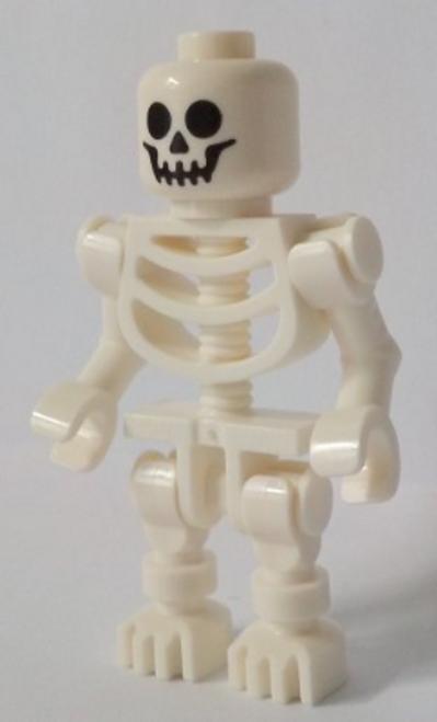 gen099 LEGO® Skeleton with Standard Skull, Bent Arms Horizontal Grip