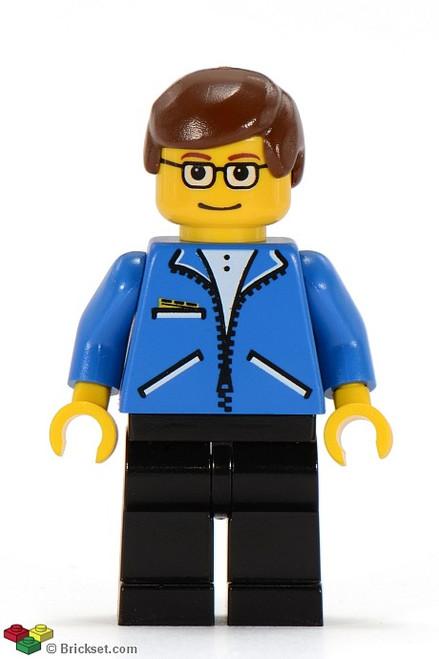 SPD002 LEGO® Peter Parker 1 - Jacket Blue, Black Legs, Brown Male Hair