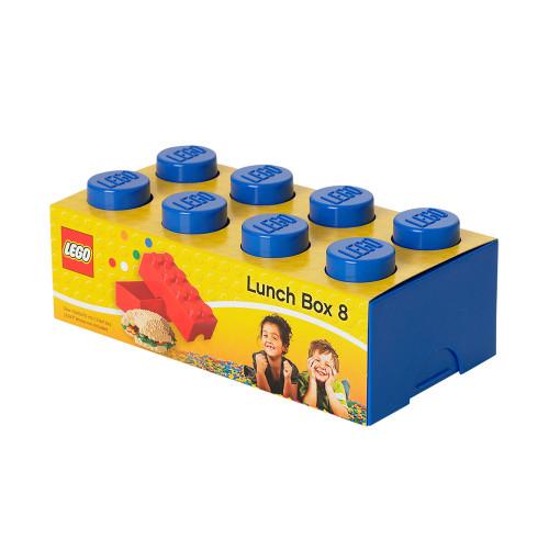 4023g LEGO® Lunch Box 8, Giant 2 x 4 Brick Shape (blue)