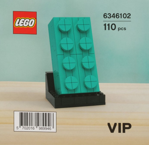 6346102 LEGO® Buildable 2x4 Teal Brick