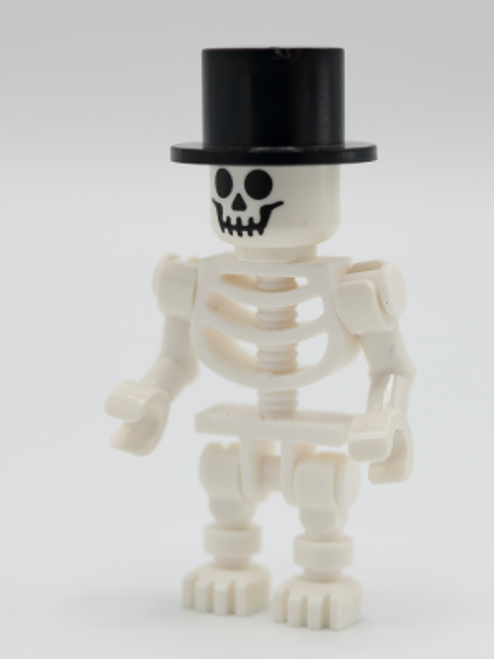 GEN147 LEGO® Skeleton with Standard Skull, Black Top Hat