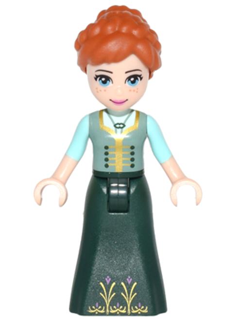 dp041 LEGO® Anna - Sand Green Top, Dark Green Skirt