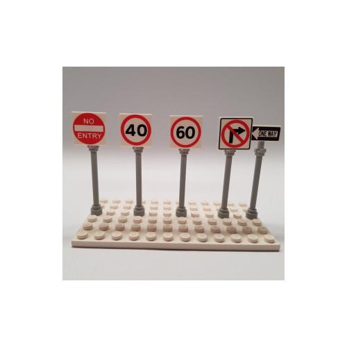 B001 LEGO® Custom Parts: Road Signs - Speed