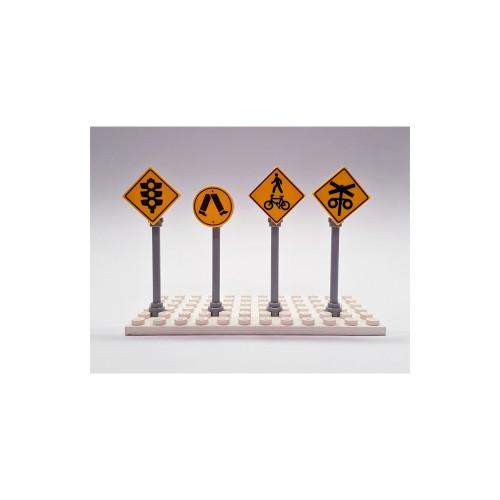 B002 LEGO® Custom Parts: Road Signs - Crossings