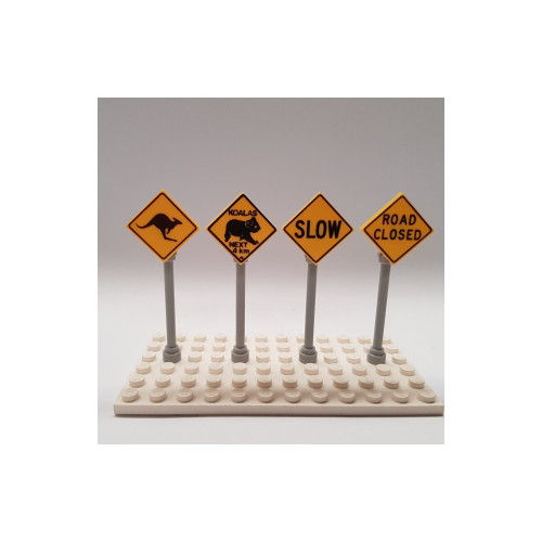 B003 LEGO® Custom Parts: Road Signs - Country