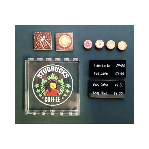 B013 LEGO® Custom Parts: Studbucks Coffee Shop