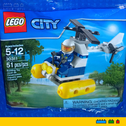 30311 LEGO® City Swamp Police Helicopter polybag