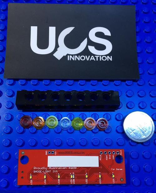 Brick Badge - multi programme flashing light module