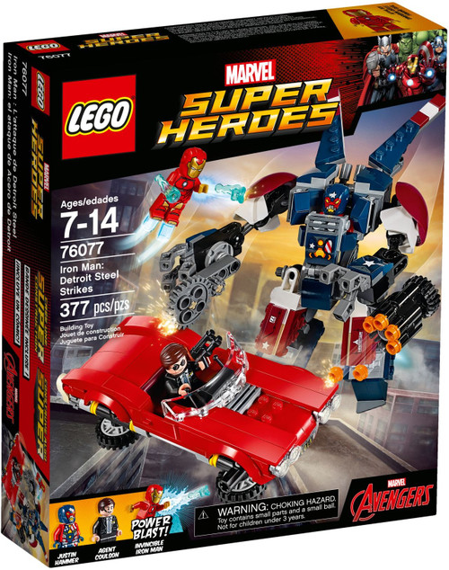 76077 LEGO® Marvel™ Super Heroes Iron Man: Detroit Steel Strikes