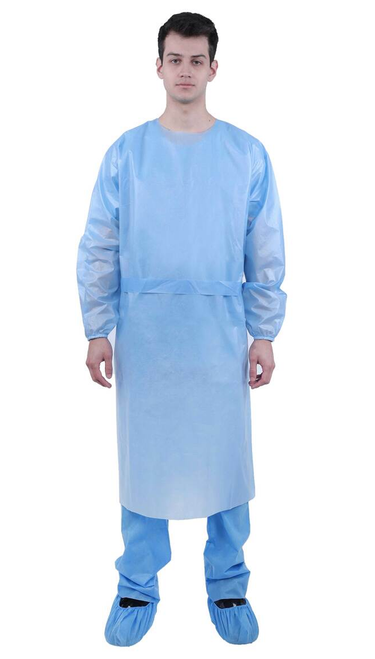AAMI Level 1 Isolation Gown - Poly Coated